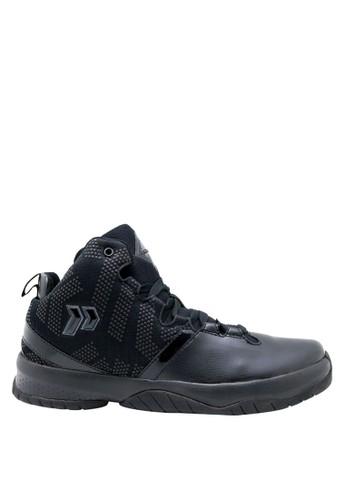 Precise black Precise Storm Sepatu Basket - Hitam 45E8DSH9A56017GS_1