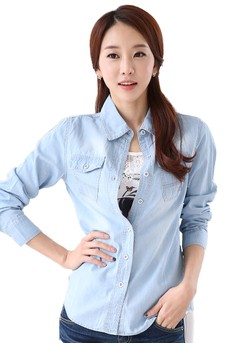 Slim Fit Casual Denim Jacket Shirt