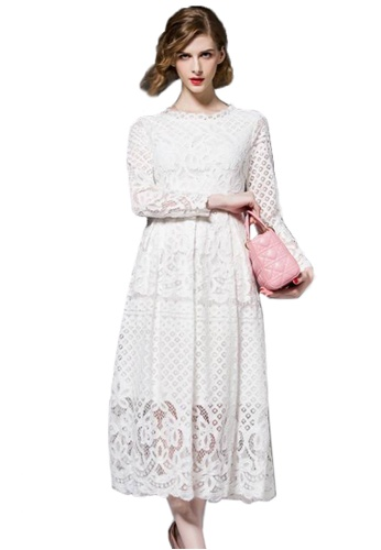 Sunnydaysweety white Super Sale  long-sleeved Lace One Piece Dress A101489W 5350AAA2781DD6GS_1