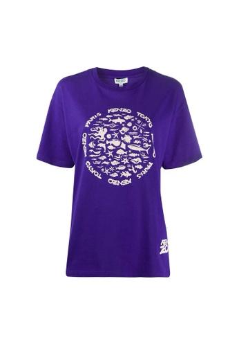 Kenzo purple Kenzo Tokyo Print T-Shirt in Purple 3BB1EAA1B3E6B7GS_1
