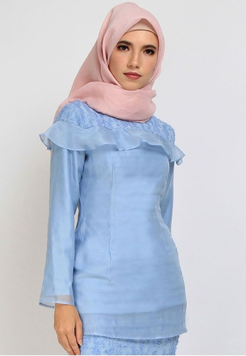 POPLOOK blue Giana Slightly Fitted Blouse B0452AAD6F8167GS_1