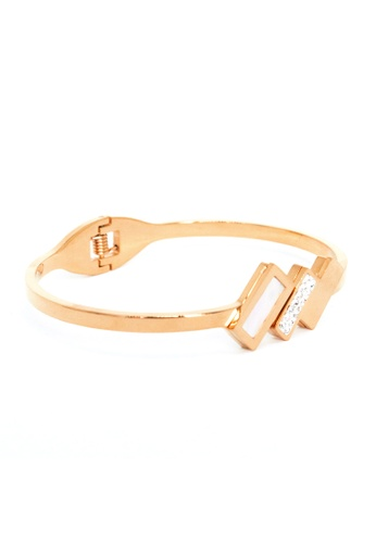 Elfi pink Elfi Stainless Steel Fashion Spring Clasp Bracelet MB12 (Rose Gold) 0B328AC80AB609GS_1