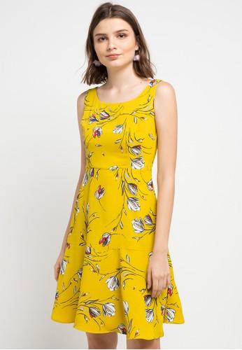 Chanira yellow and multi Siena Dress 7E448AA1E2FB38GS_1