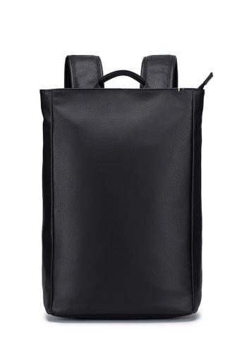 ENZODESIGN black ENZODESIGN Madrid Soft Cow Leather Top Zip Minimalist Backpack 4C8FDAC2FA4956GS_1