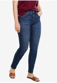 0bb9f30f78f7b Violeta by MANGO blue Plus Size Slim-Fit Susan Jeans 67629AA82E5AA5GS_1