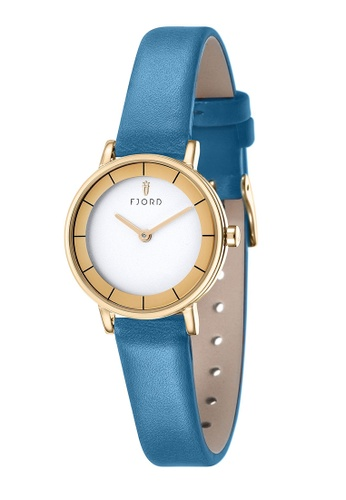 Fjord blue Fjord Women's Genuine Leather Watch - FJ-6038-06 794DDAC4F1D40CGS_1