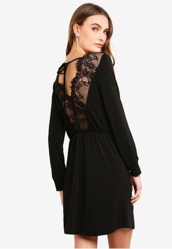 Vero Moda black Anna LS Dress Lace 77FD5AAEECBA7AGS_1