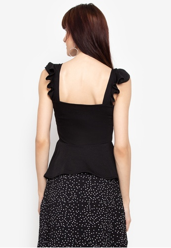 cdee6e7d94e5b9 Shop F.101 Ruffled Sleeveless Tops Online on ZALORA Philippines