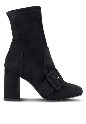 ZALORA 黑色 扣 踝靴 4EB6BZZ258321EGS_1