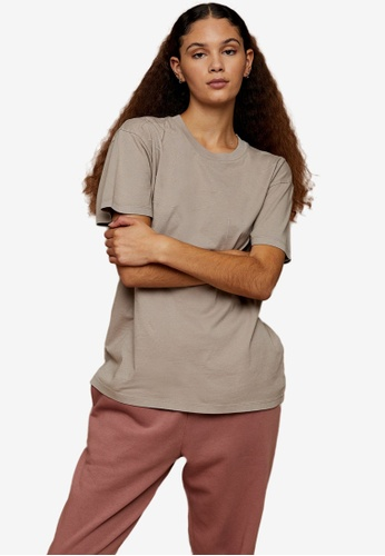 TOPSHOP multi Premium Leisure Stone Distressed T-Shirt ED28FAAFB8CCCCGS_1