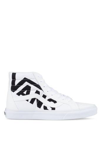 VANS black and white SK8-Hi Reissue VANS Sneakers VA142SH0S4I9MY_1