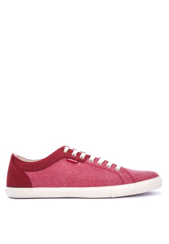 Levi's red Woods Canvas Microfiber Sneakers F5DD8SHDA3727FGS_1