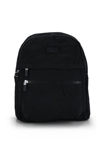 Bagstationz black Crinkled Nylon Small Backpack 734EDAC50EBC9AGS_1