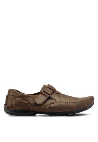 Rocklander brown Matarazo Strap-On Moccasins 95264SHAEC269FGS_1