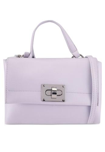 Dorothy Perkins purple Lilac Lock Crossbody Bag 676ADACE41FD8FGS_1