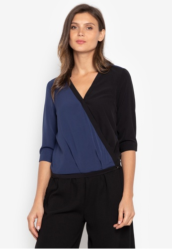 cd8e0fed74188 Shop Maldita Felicia Overlapping Blouse Online on ZALORA Philippines