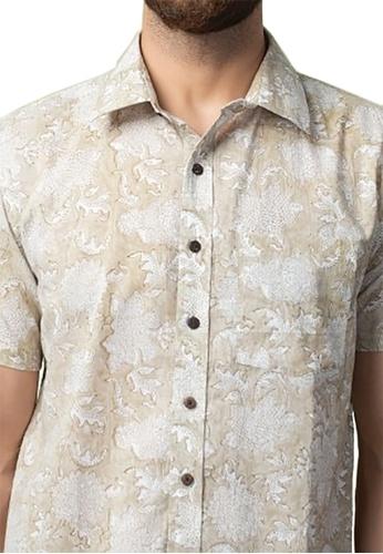 Fabindia Cotton Cambric Printed Bush Shirt F981EAA47022BBGS_1