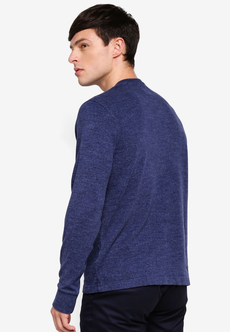 T Cotton Brothers Shirt Brushed Henley Navy Brooks qR7PAP