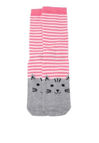 Dorothy Perkins grey Grey Toe Cat Stripe Socks E3C99AA8F4CBD7GS_1