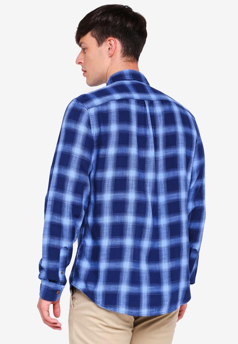 Twill Blue Union Cotton GAP Shirt Slub H6wgqY