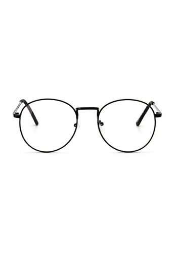 Elitrend black Retro Metal Glasses with Matt Black Frame 2F43AGLB6EC8D5GS_1