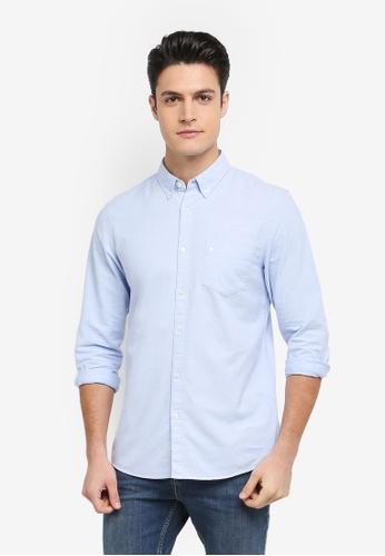 Jack Wills blue Wadsworth Oxford Plain Shirt 1498BAA442D6A9GS_1