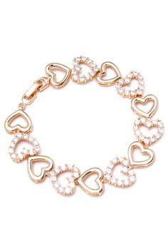 Anne 18k Plated Heart Cubic Zircon Bracelet