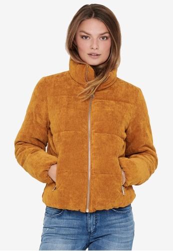 JACQUELINE DE YONG brown Newlexa Padded Corduroy Jacket BD26FAA14773BEGS_1