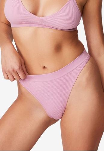 Cotton On Body purple Seamfree High Cut Brasiliano Briefs C6D93US9EA9638GS_1