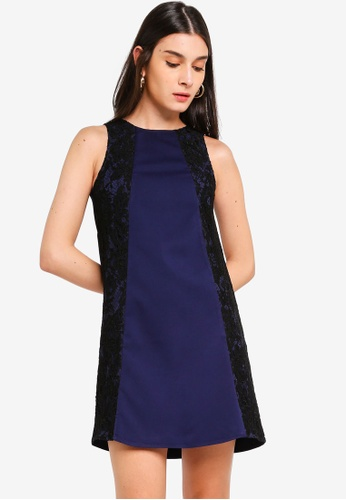 ca968b2d Shop ZALORA Lace Panels Shift Dress Online on ZALORA Philippines