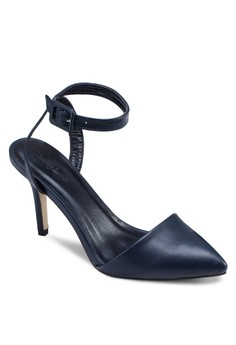 Pointed D'Orsay with Crisscross Ankle Straps