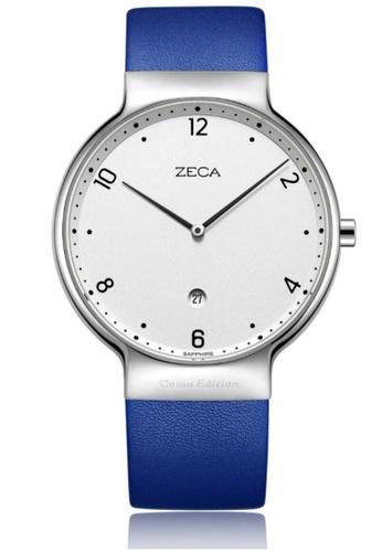ZECA blue Zeca Watches Couple Men Fashion Leather Analog - 3013M Blue BDCE5AC7A99B52GS_1