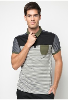 Bench Men's Striped Polo Shirt with Pocket