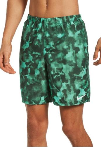 """Nike green Nike Swim Men's Cloud Dye Packable 7"""" Volley Short 4F9CFUS5B0096DGS_1"""