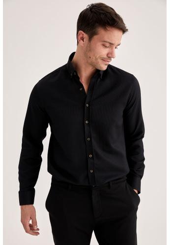 DeFacto black Long Sleeve Shirt 42725AA063996FGS_1