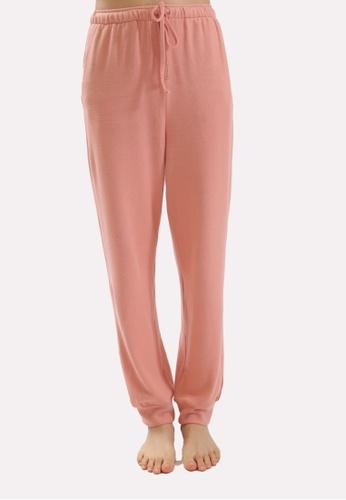 QuestChic pink and orange Cera Cotton Sweatpants 054E3AAAF60711GS_1