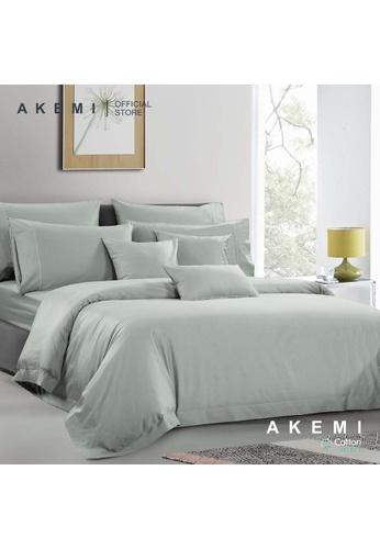 AKEMI green AKEMI Cotton Select Affinity - Sage Box Dove Mint (Fitted Sheet Set) C045AHL1ED920AGS_1
