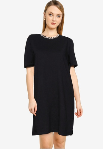 Brave Soul black Animal Print T-Shirt Dress B3826AA14E9ADDGS_1