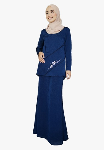 Kurung Organza With Beads from Zoe Arissa in Blue