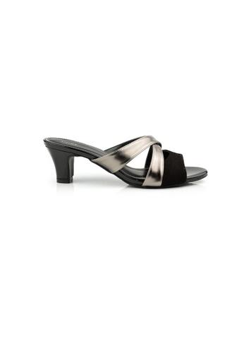 SHINE black Slip On Sandal Heels SH554SH0GVJ5SG_1