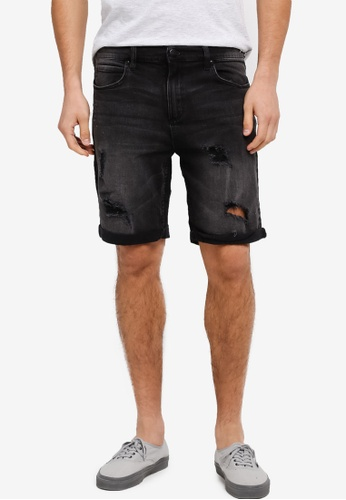 Factorie black The Cornell Shorts FA880AA0SKMJMY_1