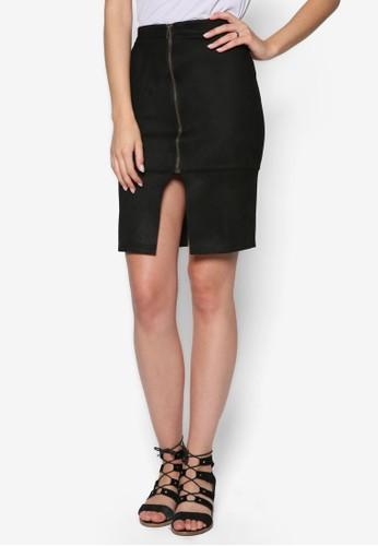Zip Front esprit香港分店地址Pencil Skirt, 服飾, 裙子