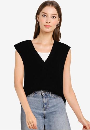Cotton On black Cotton Vest 772D1AAB97C077GS_1