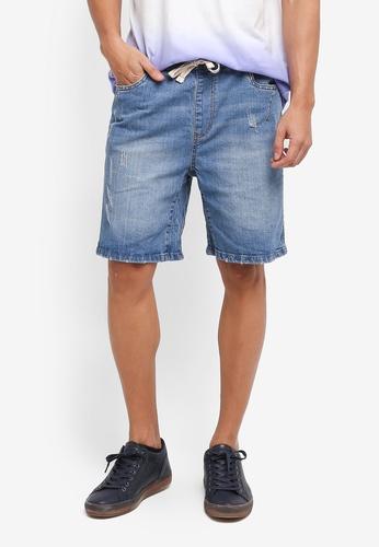 Factorie 藍色 休閒牛仔短褲 47257AAE716003GS_1