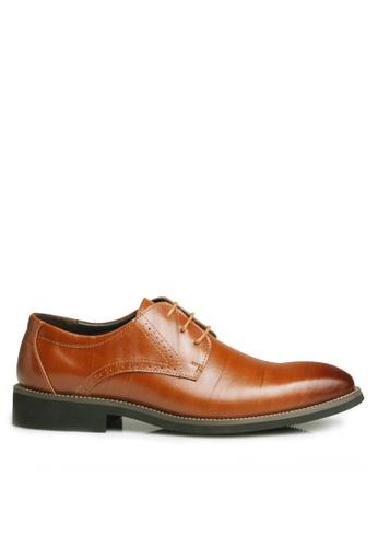 Twenty Eight Shoes 褐色 牛皮英倫風沖花牛津鞋  VMF2538 1FC3ESH75FE162GS_1