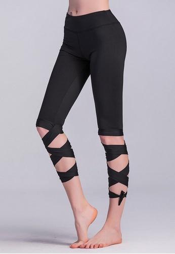 B-Code black BYG9701 Lady Yoga Fitness Leggings -Black EABB1AA53C722DGS_1