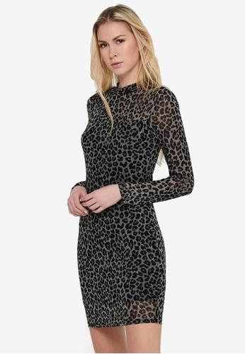 JACQUELINE DE YONG grey Camille Dress 5BE6AAA5C3DD84GS_1