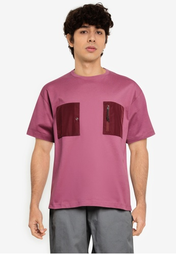 niko and ... purple Contrast Patch T-Shirt 8D171AA2B8D24AGS_1
