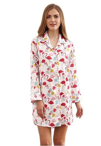 LYCKA 白色 LCB8028-女士一件式居家休閒睡衣-白色 024D6AAE4AAF89GS_1