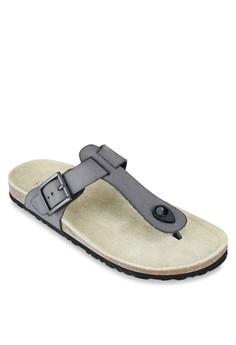 Faux Leather T-Strap Sandals